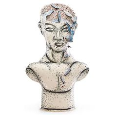AKIO TAKAMORI - Large untitled sculpture (Male Bust), Seattle, WA, late C. Hand-built glazed and gilt earthenware Signed x x Modern Ceramics, Outsider Art, Earthenware, Past, Seattle, Auction, Artsy, Sculpture, Google