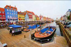 Visit Copenhagen by boat.