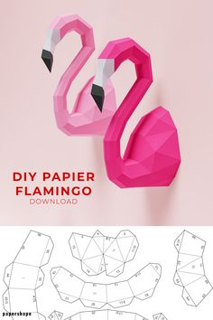 Diy Origami, Paper Crafts Origami, Easy Paper Crafts, Paper Pin, 3d Paper Art, Paper Cube, Bird Template, Pop Up Art, Diy Papier