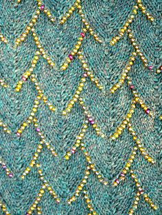 Ravelry: Draco's Nape Cowl pattern by Sarazen AnYin. But I want it in dark grey with dark iridescent beads... Maybe beads that look like the oil-slick of black birds' plumage...