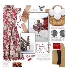"""""""Red in the sun - exact match"""" by federica-m ❤ liked on Polyvore featuring La DoubleJ Editions, JADEtribe, Splendid, Gucci, Linda Farrow, Envi:, Burberry, Ciaté, GetTheLook and blogger"""