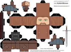 Cubee - Ned Stark by CyberDrone Harry Potter Disney, Harry Potter Navidad, Harry Potter Candy, Harry Potter Sketch, Harry Potter Monopoly, Estilo Harry Potter, Harry Potter Christmas, Harry Potter Theme, Harry Potter Activities
