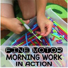 Motor Morning Work Stations In Action Fine Motor Work Stations In Action in Kindergarten. Tons of great ideas and tips for a successful morning routine without worksheets.Good morning Good morning may refer to: . Cutting Activities, Fine Motor Activities For Kids, Morning Activities, Motor Skills Activities, Gross Motor Skills, Tactile Activities, Leadership Activities, Dementia Activities, Group Activities
