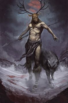Hircine is the Daedric Prince whose sphere is the Hunt, the Sport of Daedra, the Great Game, the Chase, and is known as the Huntsman and the Father of Manbeasts.