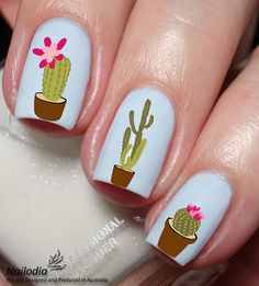 Get An Effortless Manicure With Cactus Decals - COWGIRL Magazine