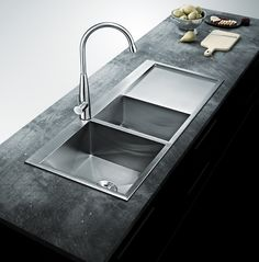 Bai 1235 48 Handmade Stainless Steel Kitchen Sink Double Bowl With Drainboard Top Mount