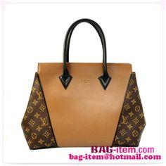 2014 Louis Vuitton Monogram Canvas  Leather W bag PM M41007 Camel
