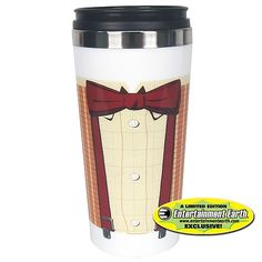 EE Exclusive Doctor Who 11th Doctor Bowtie Travel Mug - Bif Bang Pow! - Doctor Who - Mugs at Entertainment Earth