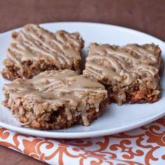 Oatmeal Butterscotch Bars with Brown Sugar Glaze