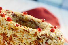 Πιλάφι με σαφράν, τηγανητό φιδέ και ρόδι Dessert Recipes, Desserts, Greek Recipes, Rice, Vegetables, Cooking, Ethnic Recipes, Food, Kitchens