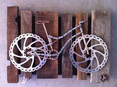 Bike Art - from repurposed bike parts