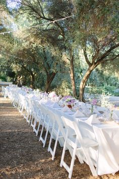 Al fresco dining at its finest. Photography: Sara Lucero - www.saralucero.com  Read More: http://www.stylemepretty.com/california-weddings/2014/04/29/rustic-elegance-at-highland-springs-resort/