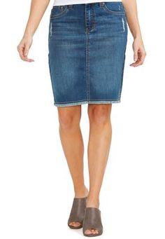 8319ad2367 Cato Fashions Frayed Hem Denim Skirt-Plus #CatoFashions Denim Skirt, Your  Style,