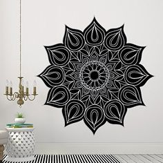 Mandala Wall Decals Bohemian Ornament Vinyl Stickers Flower Yoga Design Mural Art Indian Pattern Interior Bedroom Home Decor Removable AR350 >>> Read more  at the image link. (Note:Amazon affiliate link) #HomeGadgets