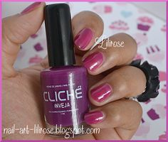 Inveja collection Roxos CLICHE http://nail-art-lilirose.blogspot.com/2013/07/collection-roxos-1ere-partie.html