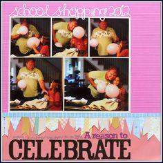 """Celebrate"" - Katie Scott #scrapbooking"