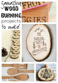 DIY Inspiration for Wood Burning Tool and Giveaway | DIY beautify