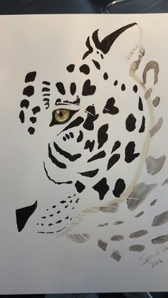 Leopard watercolor painting for sale