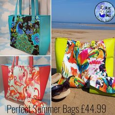 Blue Sky Bags These stunning holiday bags are perfect for hand luggage or just to show off down the shops but always make you feel your on holiday. Holiday Bags, Hand Luggage, Summer Bags, Make You Feel, Peacock, Sunshine, Delivery, Shops, Colours