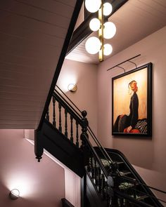 A New Sydney Guesthouse That Wants You to Feel Right at Home Pink Hallway, Black Hallway, Black Stairs, Hallway Inspiration, Interior Inspiration, Hallway Colour Schemes, Interior Design Courses Online, Glass Extension, Hallway Designs