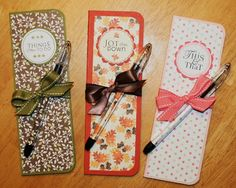 These skinny notepads are inexpensive and easy to make and they make nice gifts.  I get these skinny  notepads  from Papertrey ink.  They co...