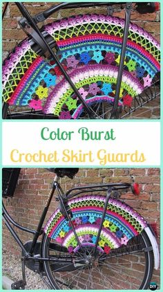 Color Burst Crochet Skirt Guards Paid Pattern - Crochet Bicycle Fashion Patterns