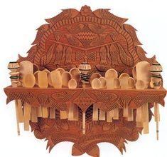 kitchen woodcarving spoon holder Jose Luis Cerda woodcarving from Paracho Michoacan