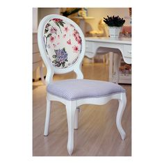 cadeira medalhao floral