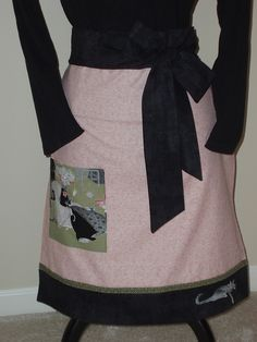 Pink Hot Dog Pillow Case Apron by quiltn queen, via Flickr