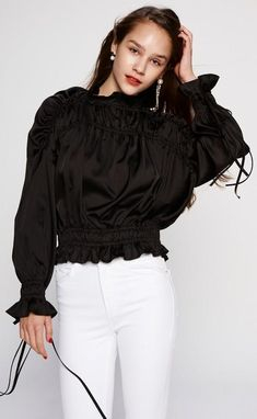 FashionGo is an online wholesale clothing marketplace where hundreds of manufacturers and wholesalers provide clothing, apparel, accessories, shoes, handbags and a variety of fashion related items. Wholesale Clothing, Smocking, Ruffle Blouse, Turtle Neck, Satin, Stylish, Long Sleeve, Sleeves, Clothes