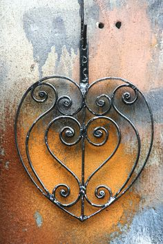 <3hand forged wrought iron heart by the Philip Simmons Foundation