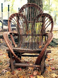 Willow Furniture #3 Butterfly Back Chair by Justin Roberts
