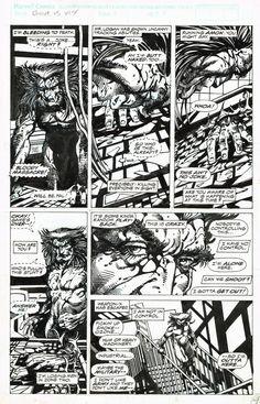 Weapon X  MCP #84 p.4 - Wolverine - Barry Windsor-Smith Comic Art