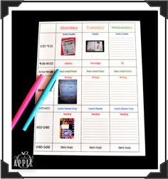 Adding Pinterest ideas, anchor charts and more to your weekly lesson plans