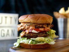 Here We Go Vegan - Mara Joins the Bert Show to Talk ATL's Best Vegan and Vegetarian Restaurants - Best places to eat in Atlanta, GA Vegan Burger Restaurant, Vegan Restaurant Options, Best Vegan Restaurants, Vegetarian Options, Vegan Options, Vegan Vegetarian, Vegan Food, Real Burger, Vegan Shrimp