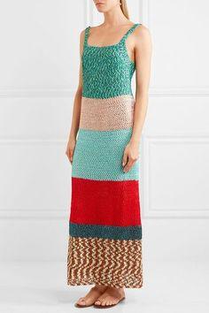 Missoni - Color-block Crochet-knit Maxi Dress - Green - IT