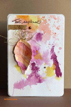 Carte Scrapbooking : carte automnale à l'aquarelle