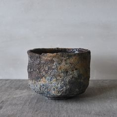 Mitch Iburg, Ember Buried Tea Bowl, Wood Fired Native Clay with Glaze, 2012