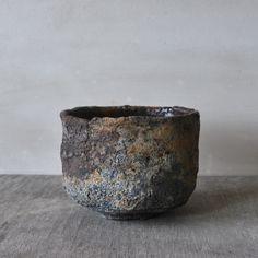 Mitch Iburg, Ember Buried Tea Bowl, Wood Fired Native Clay with Glaze, 2012