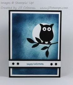 Happy Halloween Owl In The Moon by jillastamps - Cards and Paper Crafts at Splitcoaststampers
