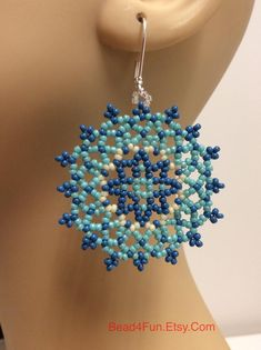 Seed Beaded Mandala Earrings Medallion Shape Earrings Name: | Etsy