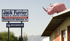 Tuffy the pink rhino marks the spot as a Tucson oddity