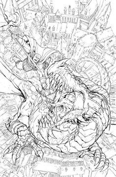 Here Are The Pencils For Subscription Cover Of Issue I Think Its Finally Coming Out This Week After Some Delays On Shipping End Thi