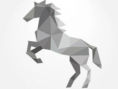 Polygonal Horse Forming By Triangles by Freepik