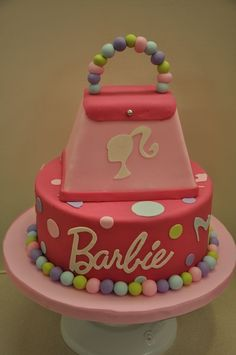 37 ideas of best birthday cake Barbie 2019 Barbie Birthday Cake, Barbie Theme Party, Birthday Cake Girls, 5th Birthday, Birthday Cakes, Birthday Ideas, Pretty Cakes, Cute Cakes, Fancy Cakes