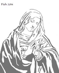 Virgin Mary - Religious - User Gallery - Scroll Saw Village