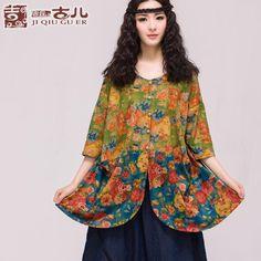 Jiqiu floare vechi copil originale t-shirts femei de design a lui bluza de imprimare retro libere de metri de mare doamnelor autentic