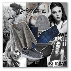 """""""http://www.romwe.com/V-Neck-Chunky-Knit-Grey-Dolman-Sweater-p-126092-cat-684.html?utm_source=polyvore&utm_medium=contest&url_from=SKU:RKNI150826225"""" by daryonka6250 ❤ liked on Polyvore featuring Toast, rag & bone, Topshop and NIKE"""