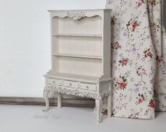 Shabby chic dollhouse dresser. Miniature by MinisbyAngie on Etsy, €45.00