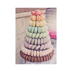 45+ Macaron Wedding Favors and Wedding Cake Ideas ❤ liked on Polyvore